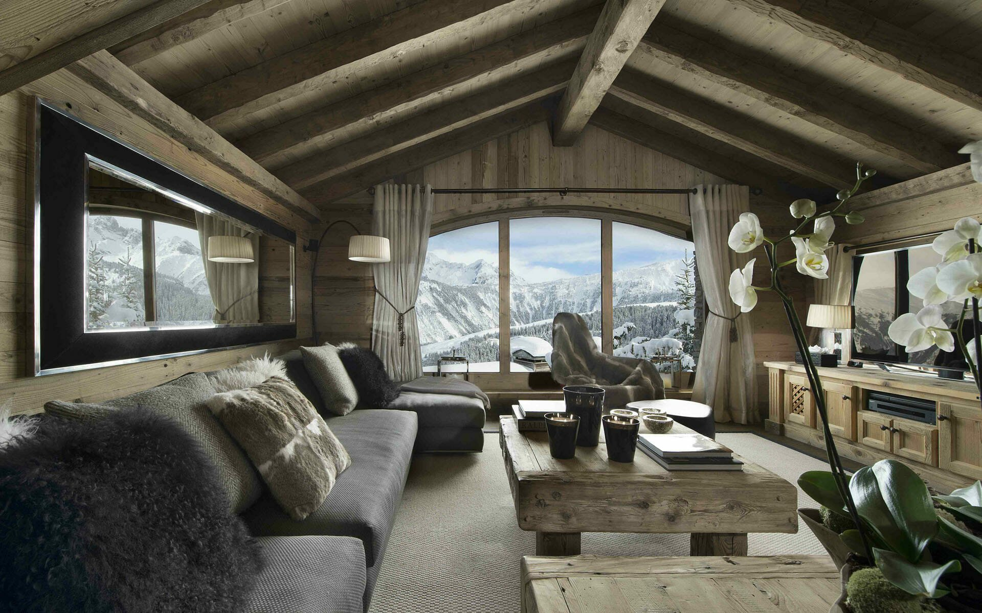 Cozy cabin winter home decor