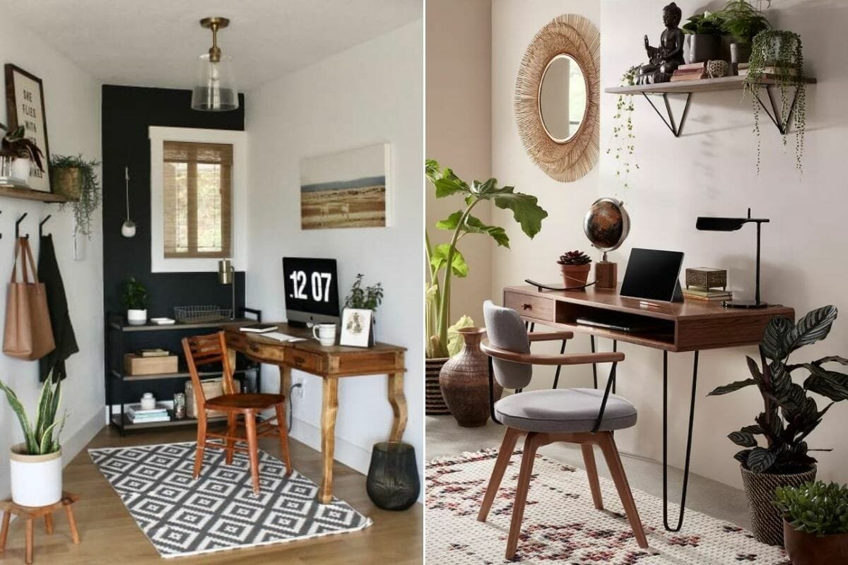 Creative and natural home office design made with home office allowances