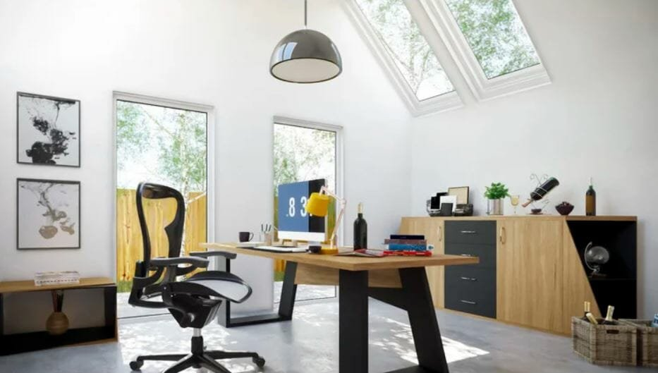 Modern home office design as part of home office allowances Fares N