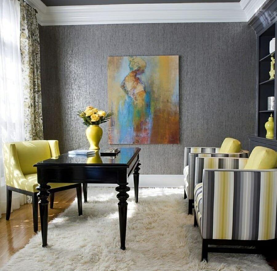 Pantone 2021 illuminating yellow home office