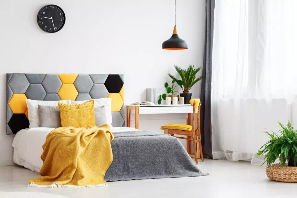 Pantone color of the year 2021 in bedroom