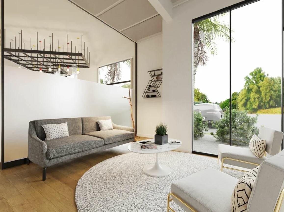 Scandinavian modern office reception design