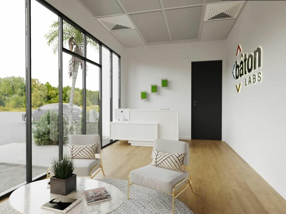 Scandinavian office design with a white modern look