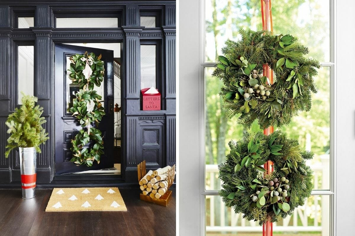 Stacked winter wreath ideas