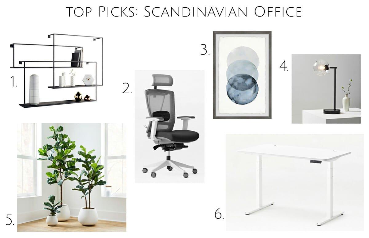 Top picks for a Scandinavian office interior design