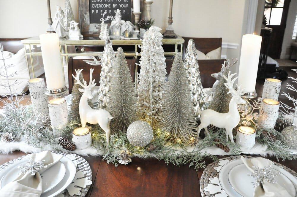 Winter wonderland winter table centerpiece ideas