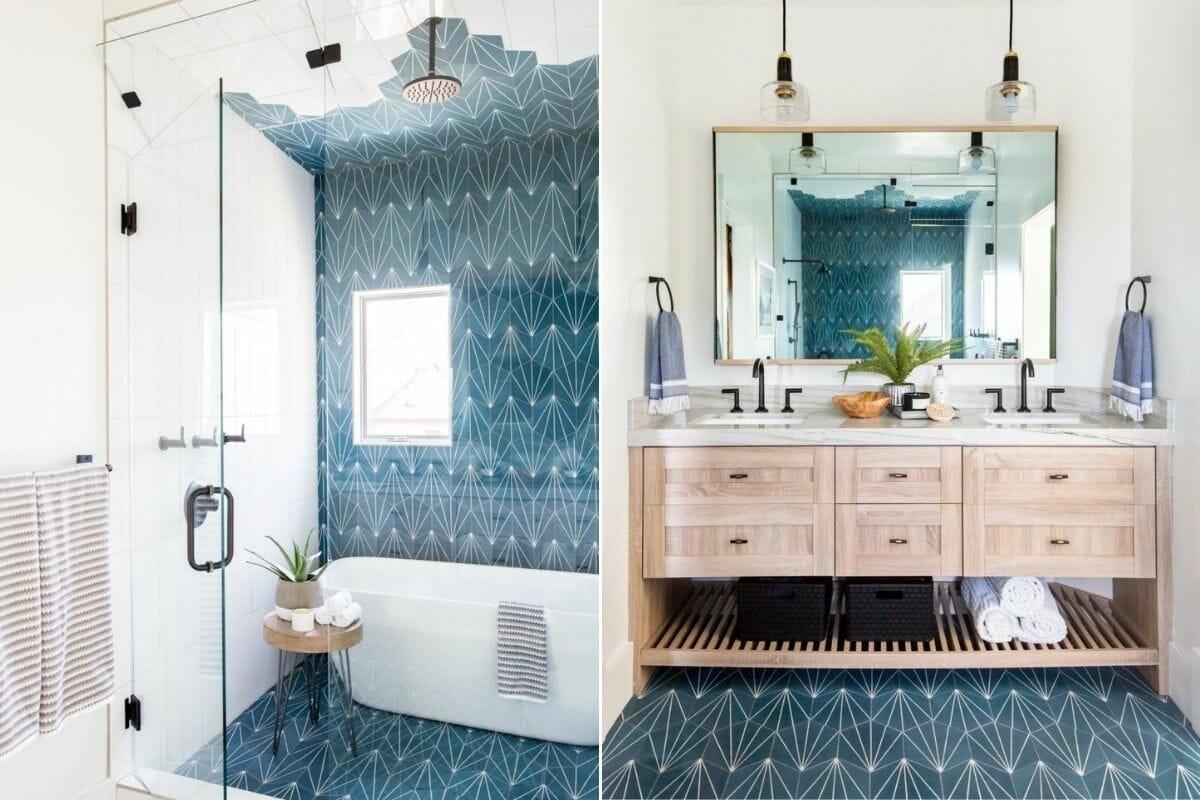 Alternative bathroom tile trends