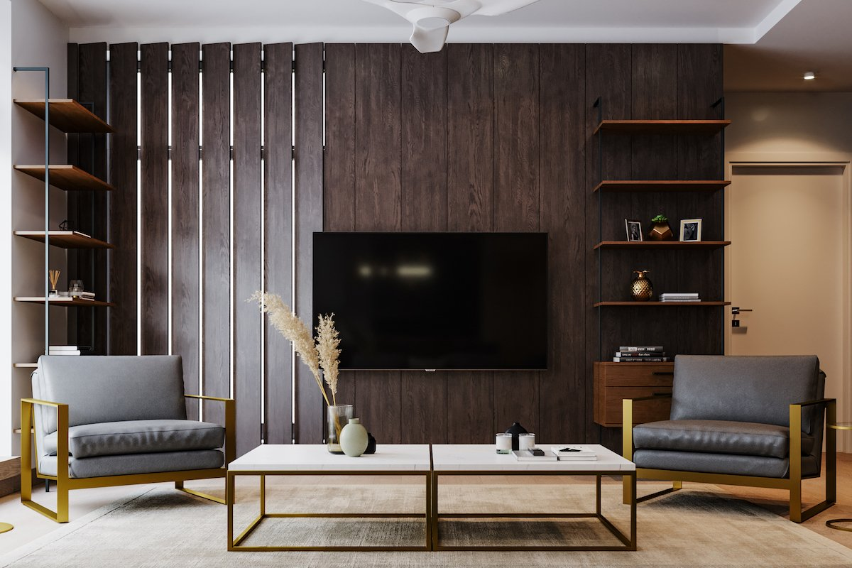 Clean lines and open furniture make a small room look bigger