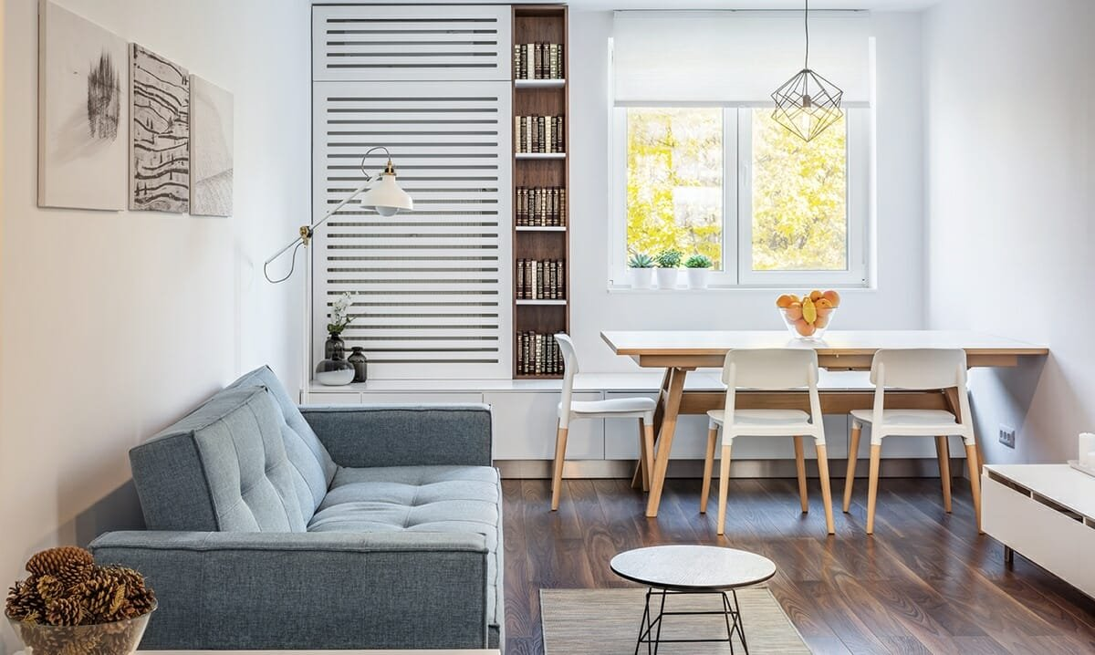 Cosy small living room layout