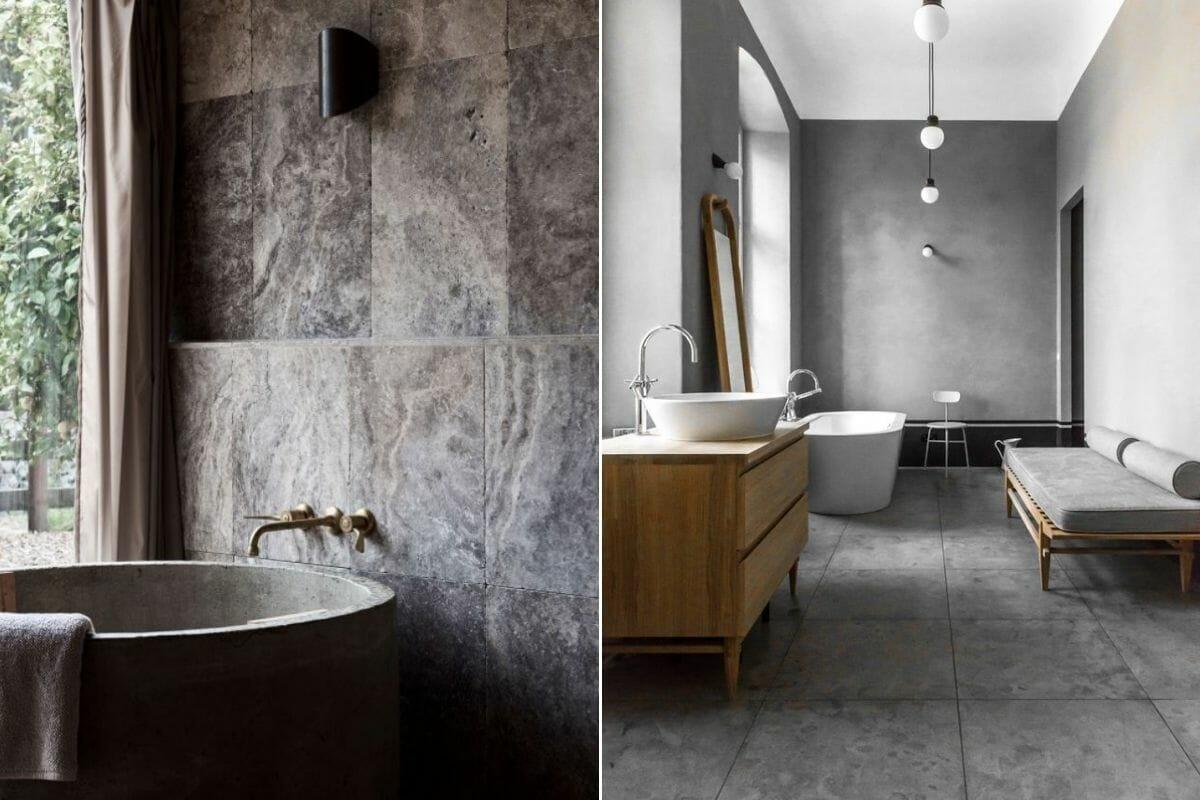 Large-format bathroom tile trends