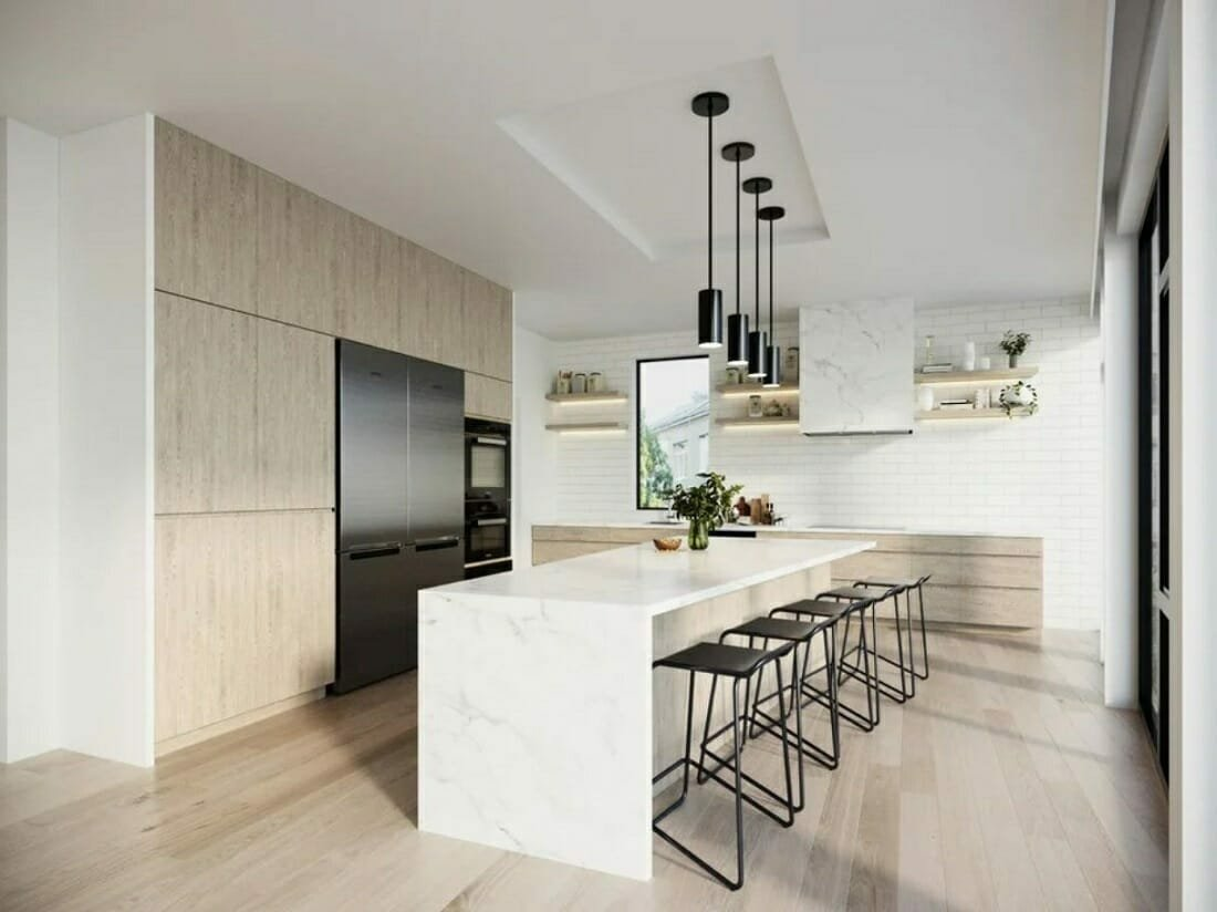 Light-Ash-wood-marble-for-a-modern-white-kitchen-design-with-contemporary-furniture-and-decor