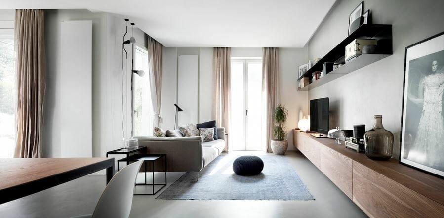 Minimal living room layouts by Decorilla designer