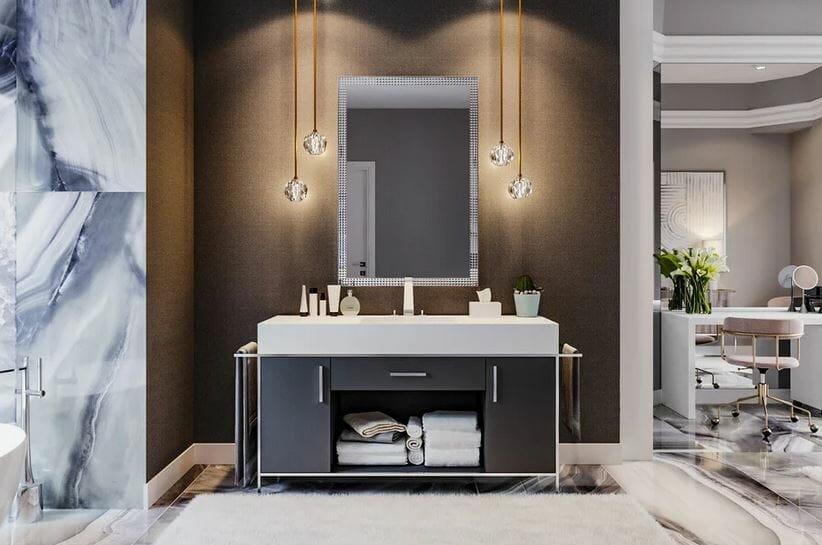 contemporary home decor bathroom