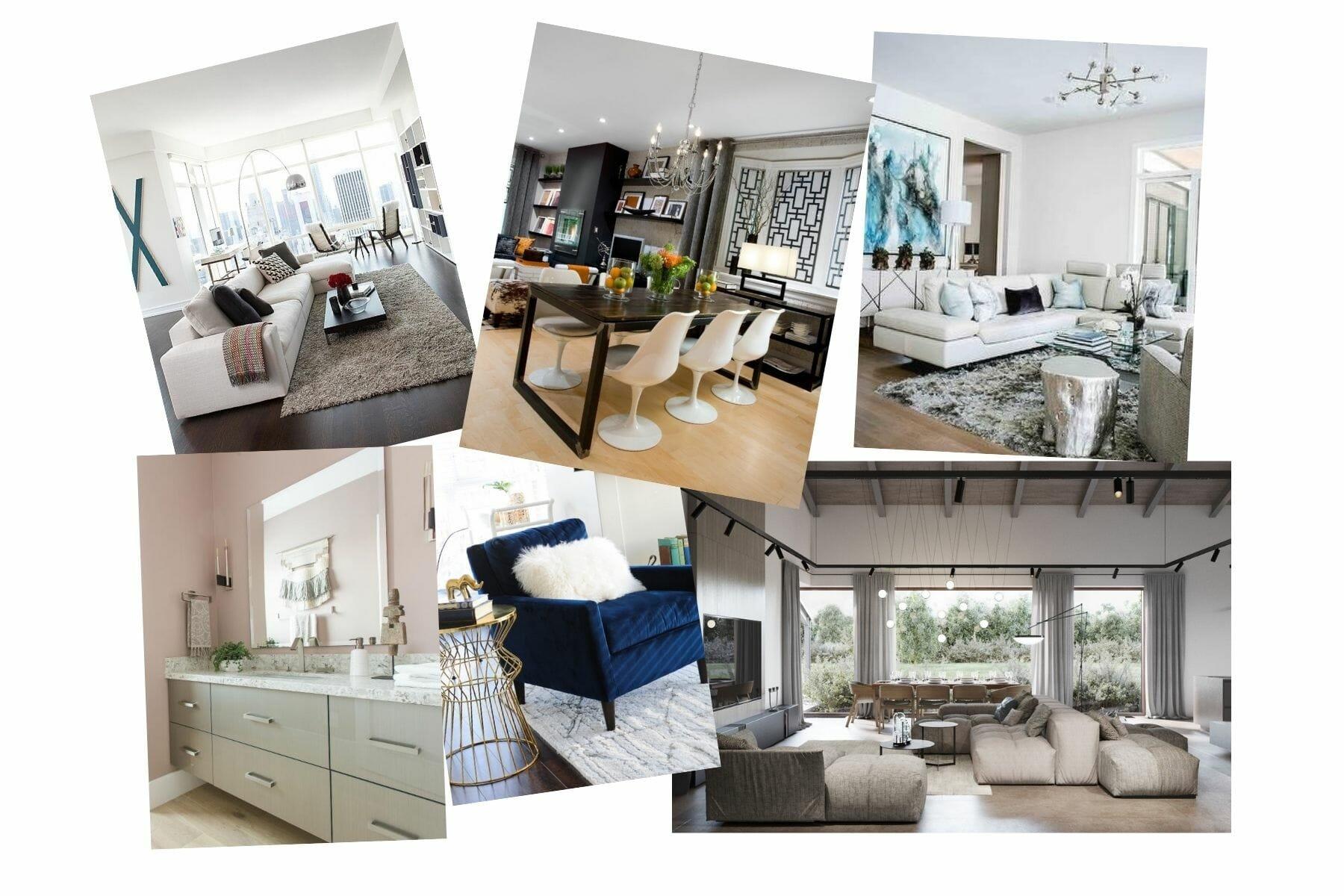 contemporary home interior mood board