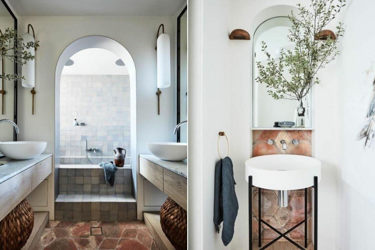 earth bathroom color trends 2021