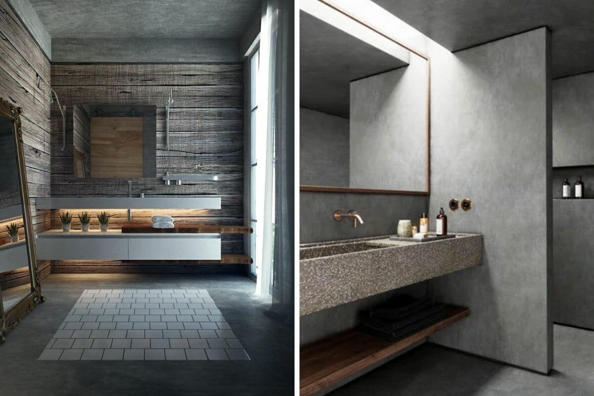 monochromatic cement grey bathroom trends 2021 (1)