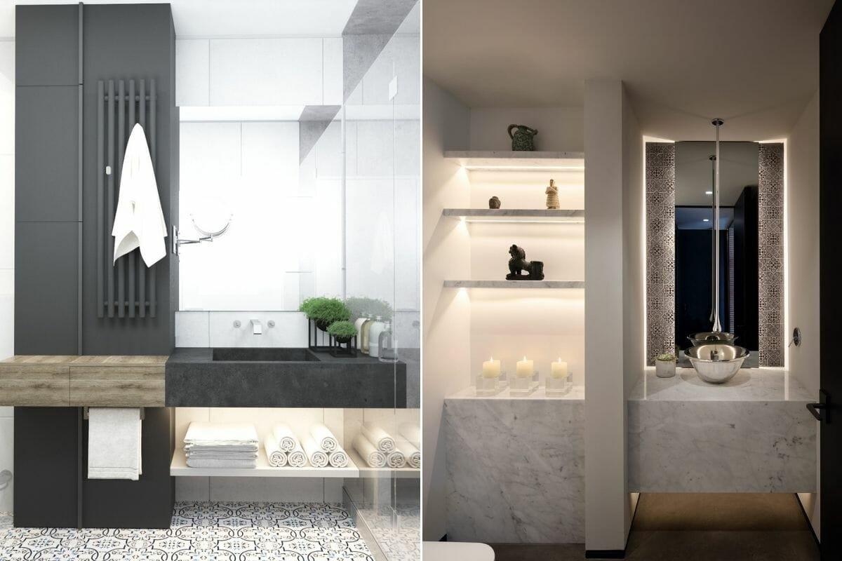 monochrome bathroom trends for the basin