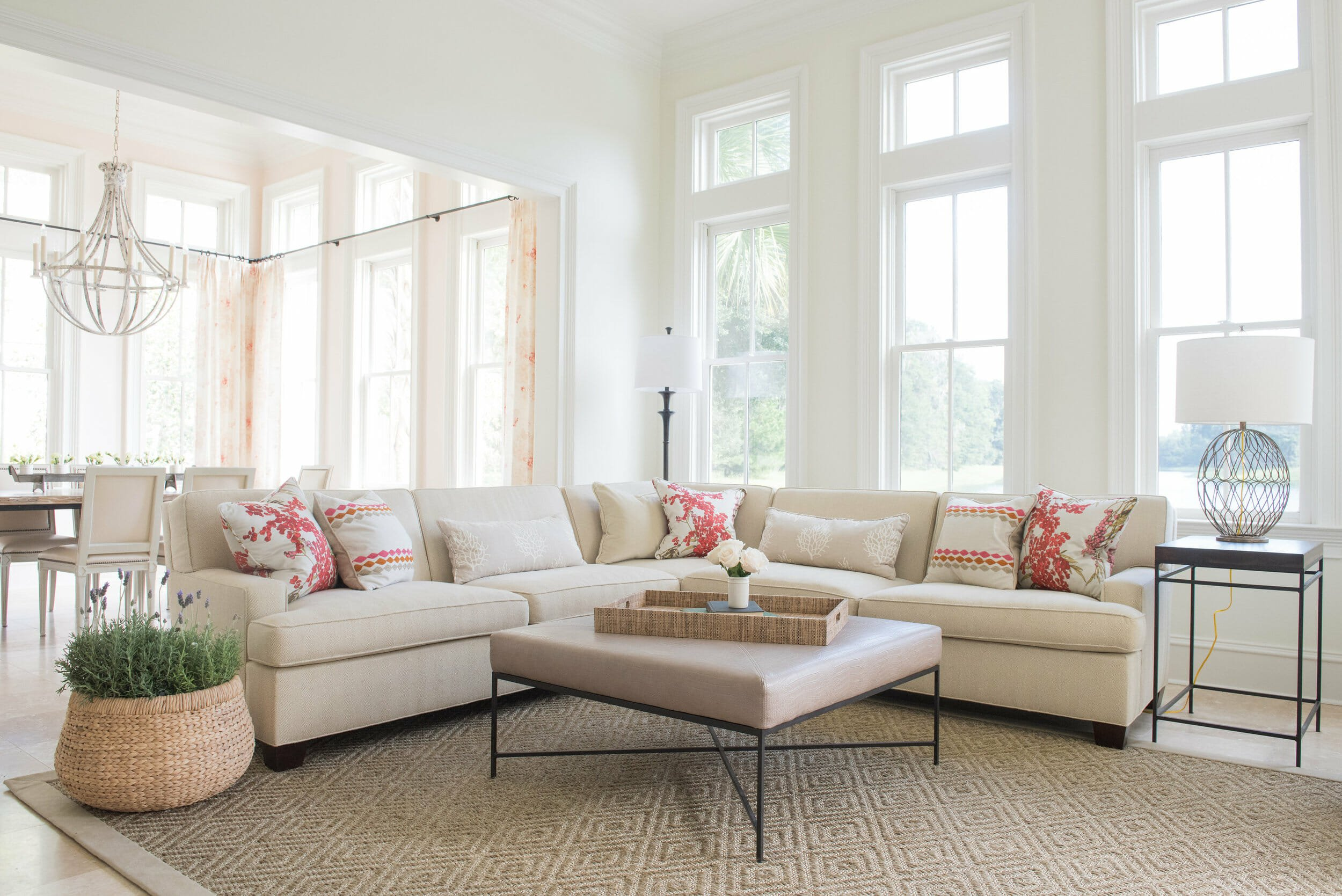 Bright living room by savannah ga interior decorator beth mcdonald