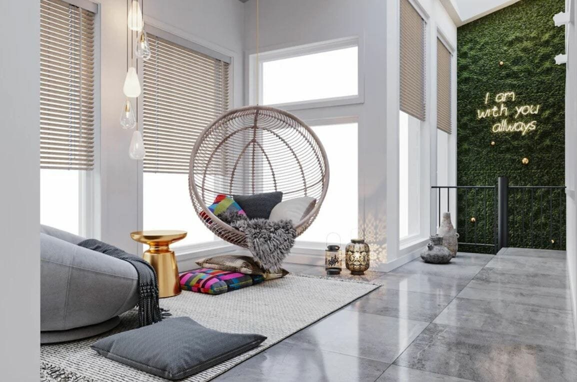 Contemporary decor and design style for a sleek patio