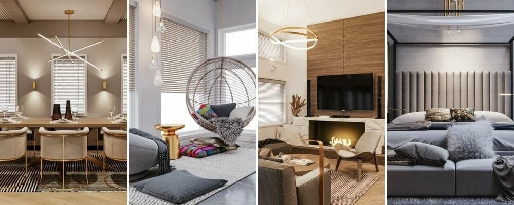 Contemporary house remodel - from the dining room to the bedroom