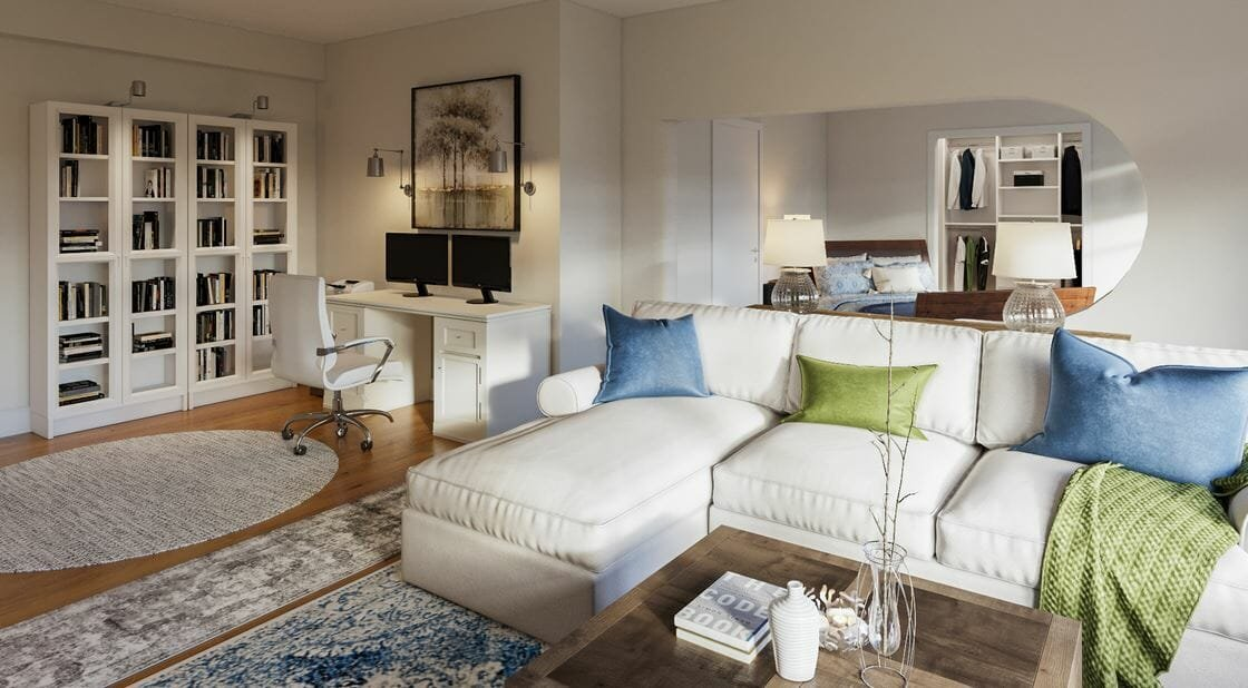 Contemporary studio apartment decor