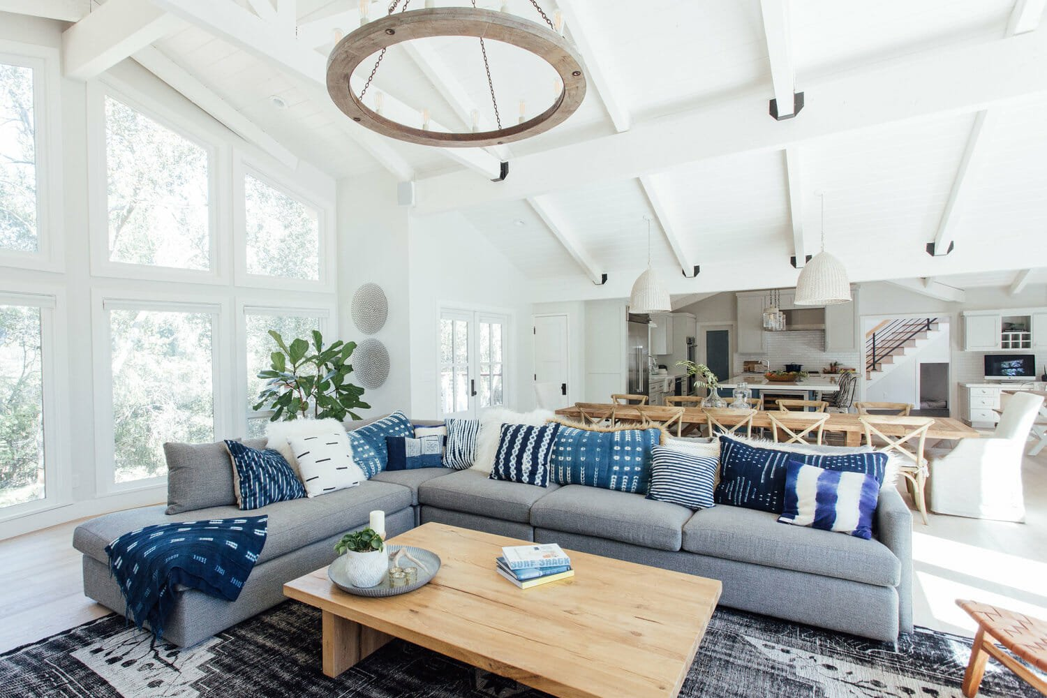 Cosy living room by one of the top San Jose interior designers, Michelle Lisac