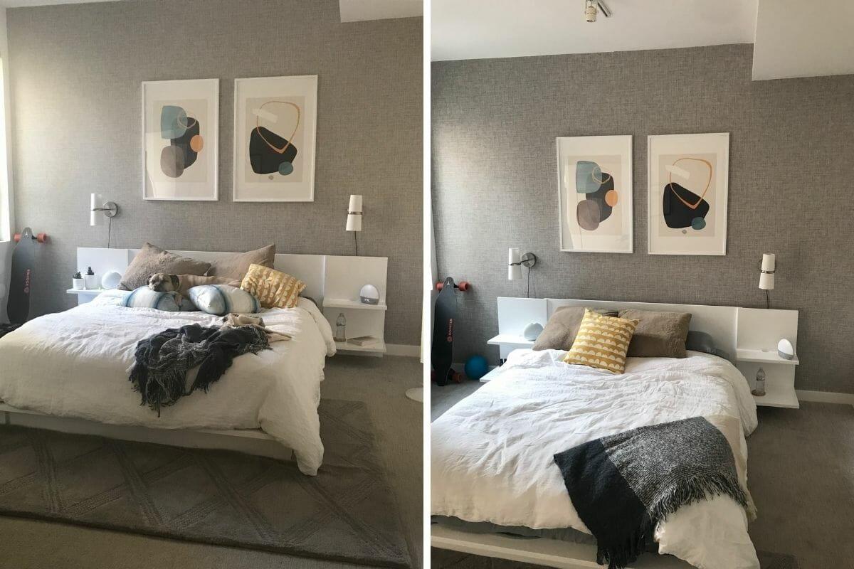 Cozy mens bedroom interior design results
