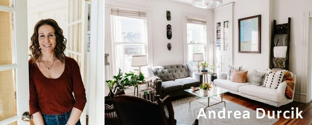 Eclectic lounge by Andrea Durcik Columbus interior design