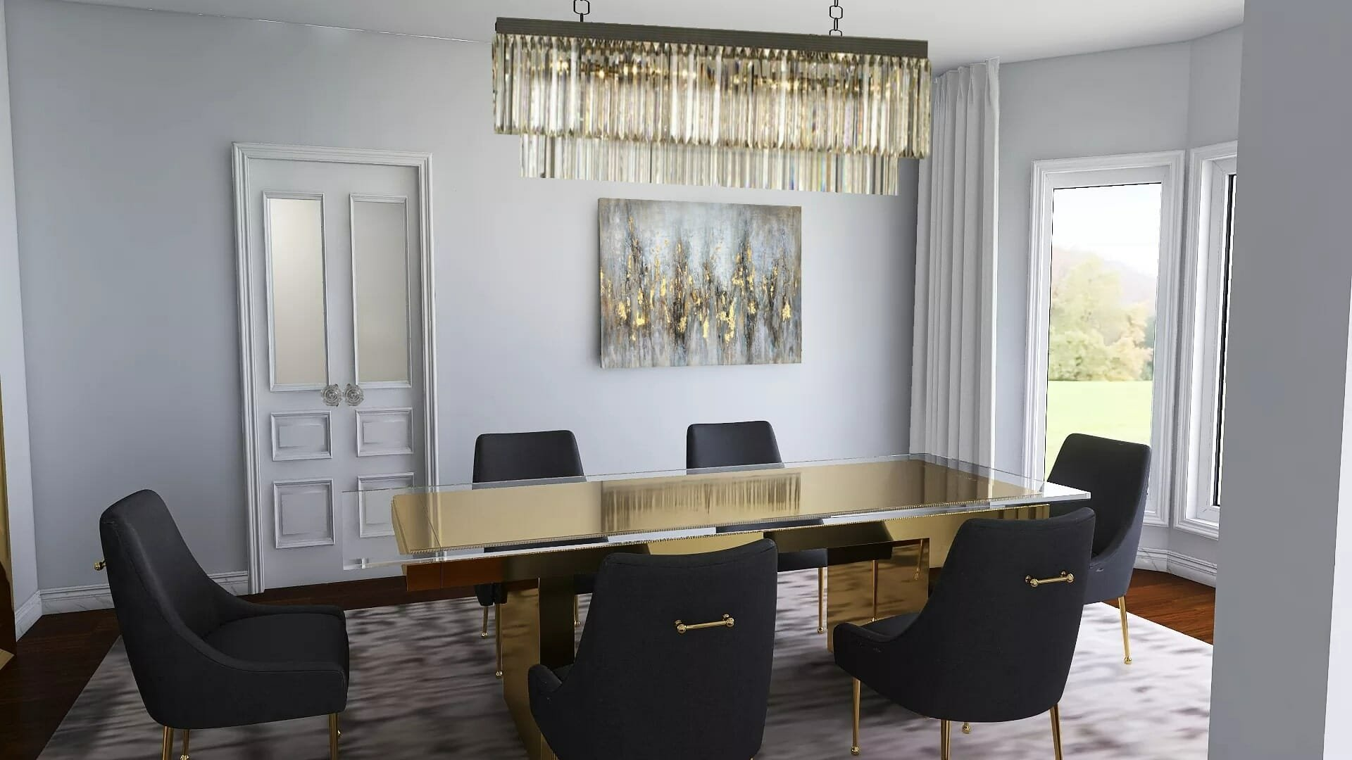 Glamorous dining room by top houzz interior designer memphis tn