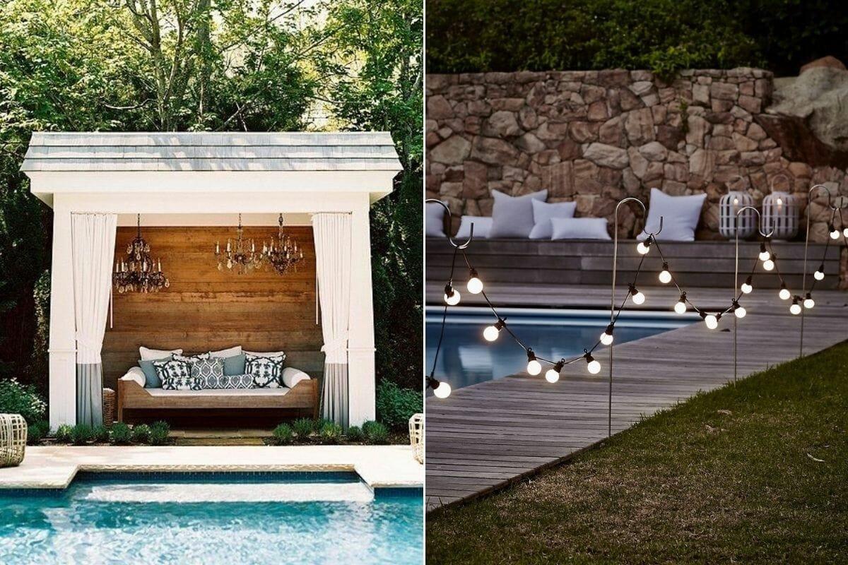 Lighting as poolside decorating