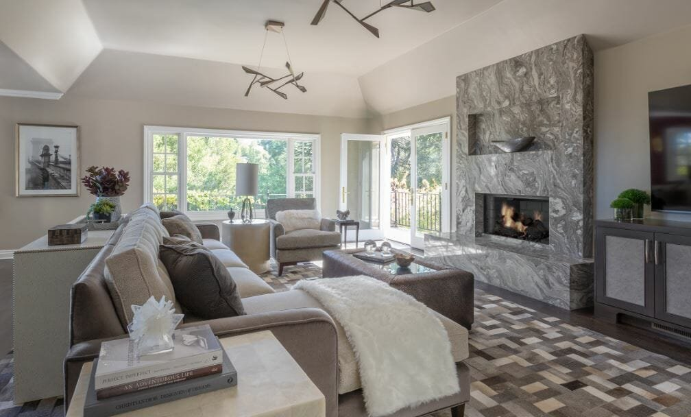 Living room design by one of the top San Jose interior designers, Amy Fischer