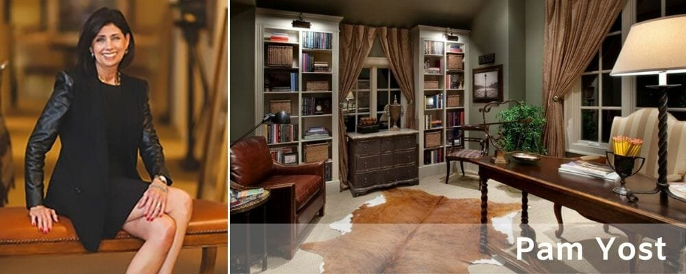 Masculine and traditional home office design by Pam Yost Columbus interior design
