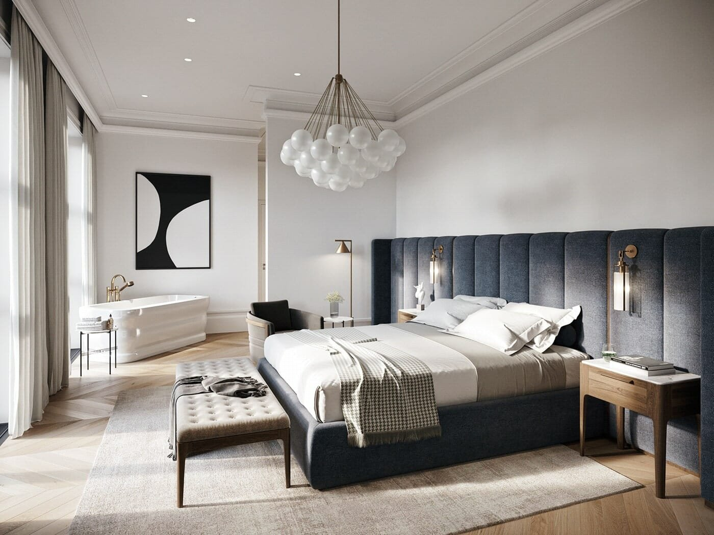 Minimal & Modern master bedroom design for a sleek look