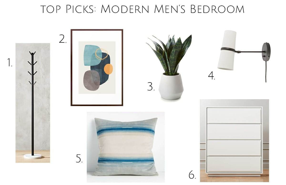 Modern bedroom ideas for guys and products
