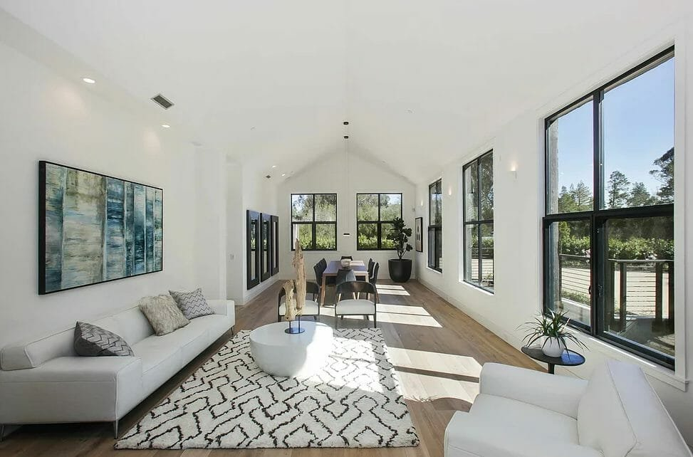 Modern living room by one of the top San Jose interior designers, Jacob Scherer