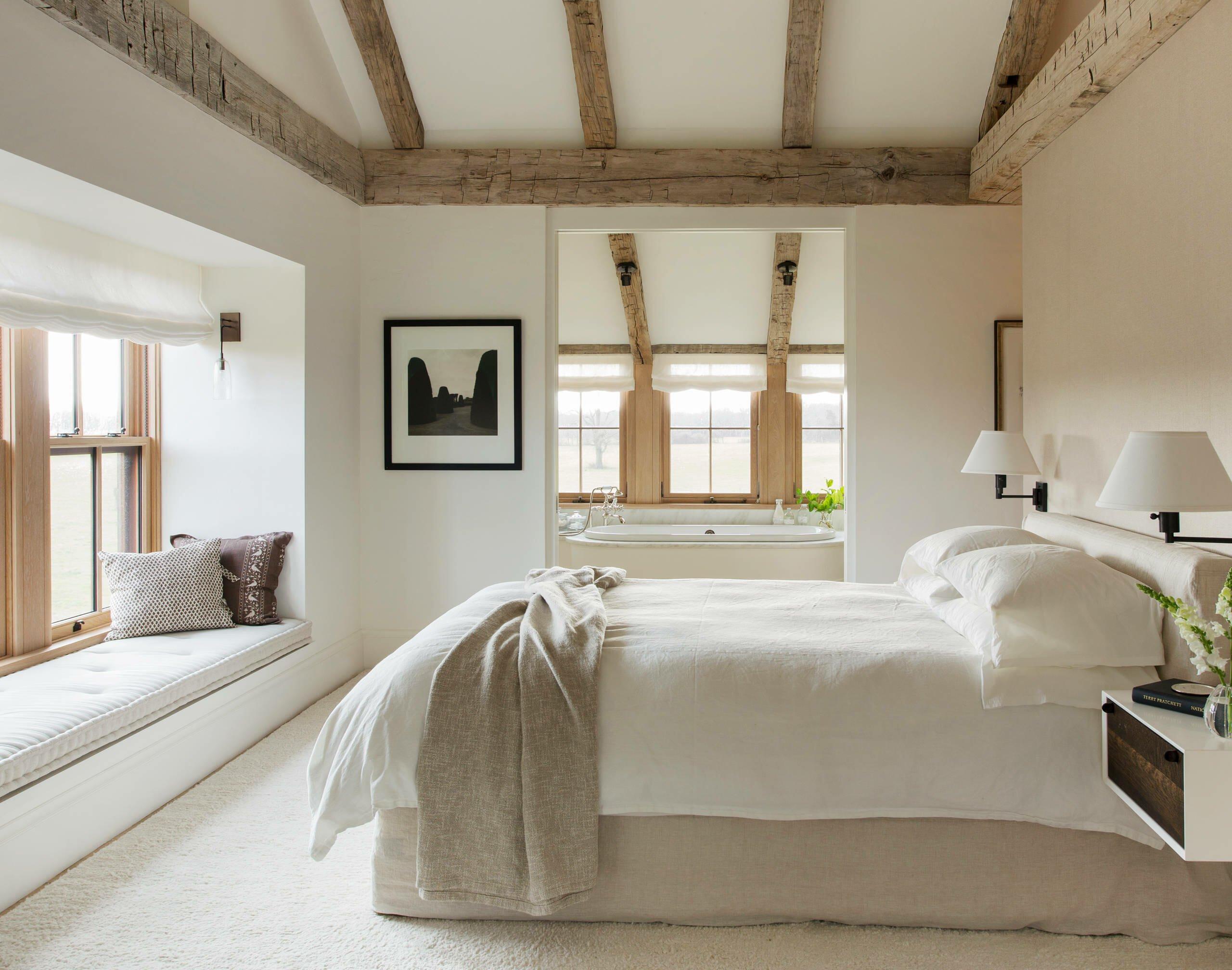Simple bedroom design in modern farmhouse decor