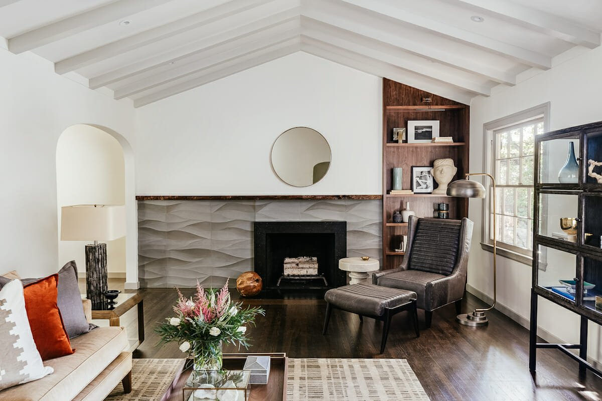 Sophisticated room interior by one of the top San Jose interior designers, Melinda Mandell