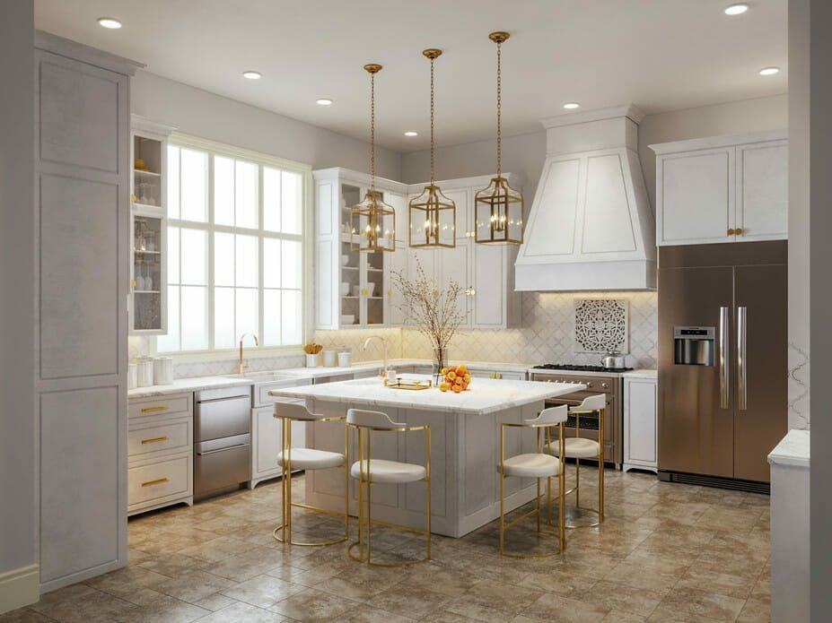 White kitchen backsplash ideas for traditional kitchen