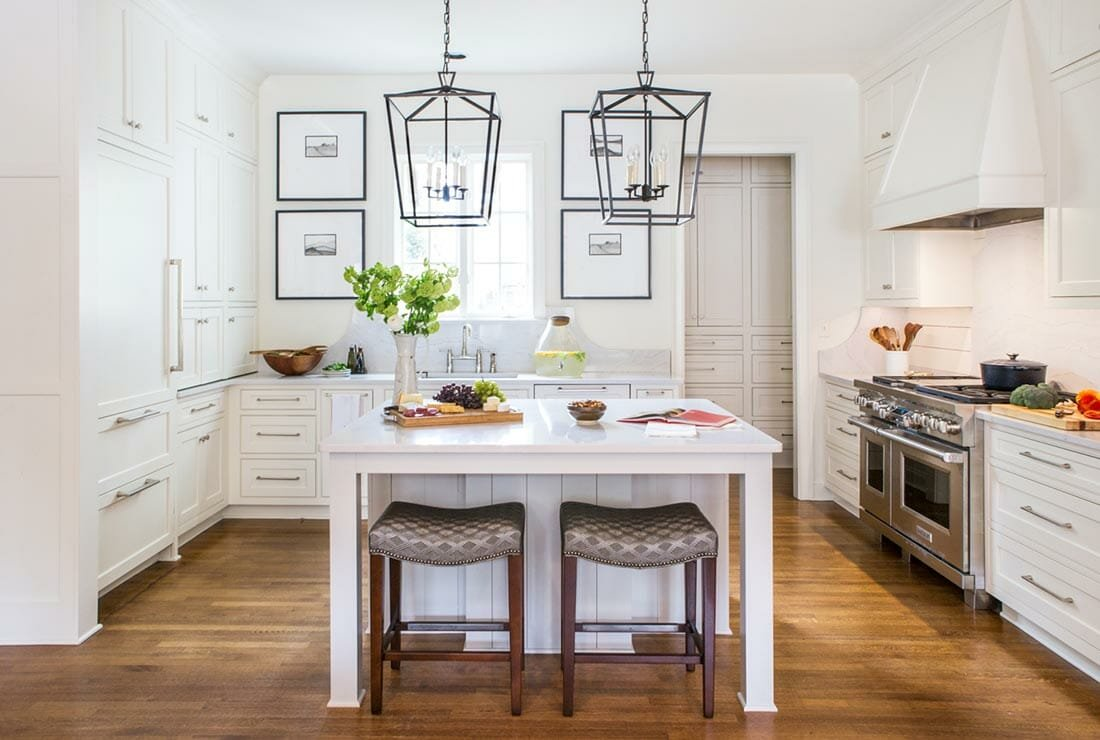 all white kitchen by one of the top memphis interior designers glennys bryant
