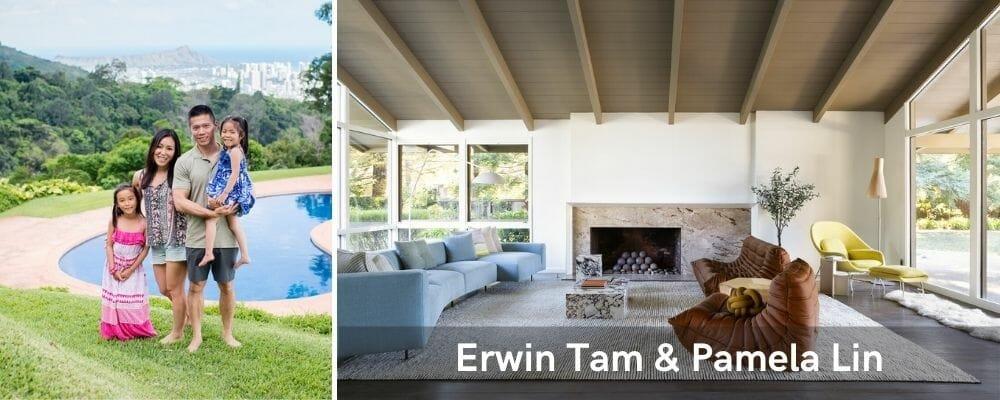 Beautiful modern living room by San Jose interior designers Erwin and Pamela
