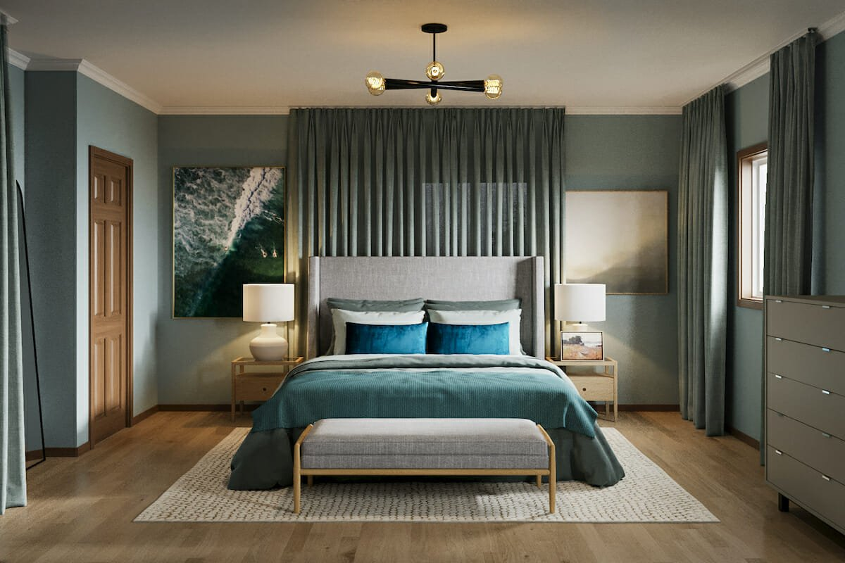 Classic bedroom by Decorilla interior designer, Courtney B.