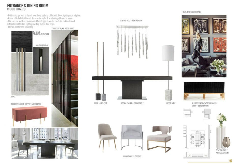 Contemporary house interior dining room