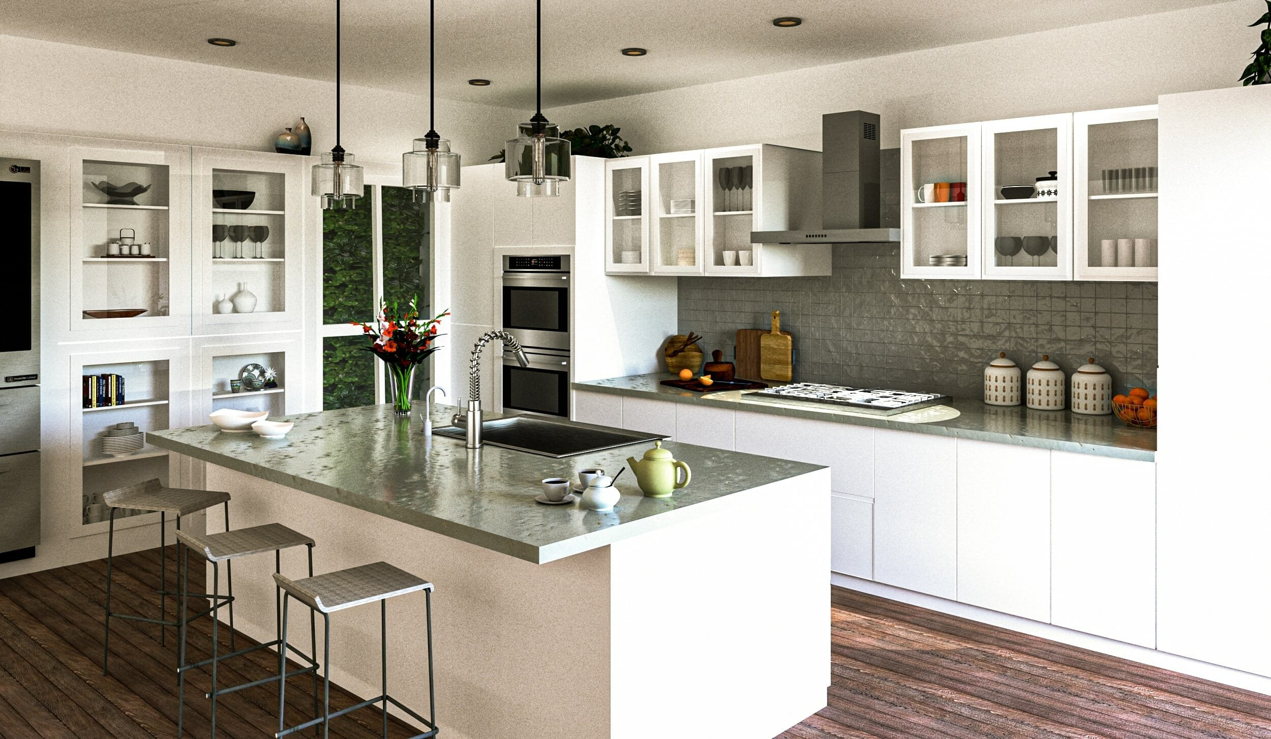 Contemporary kitchen by one of the top interior designers silicon valley - mini g