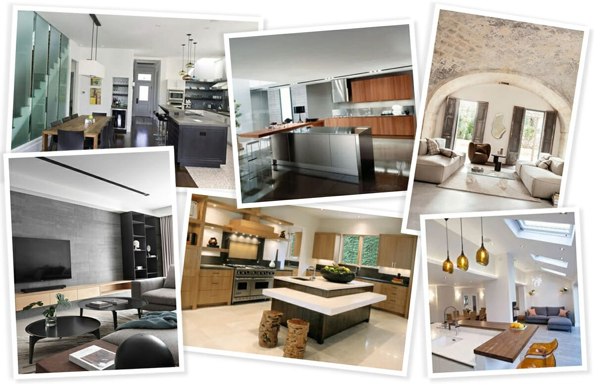 Contemporary living room and kitchen ideas