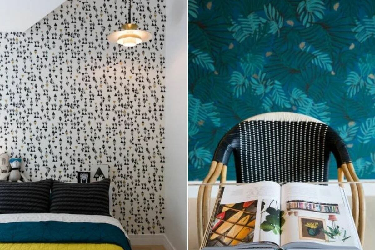 Eclectic decor and wallpaper by Sara S