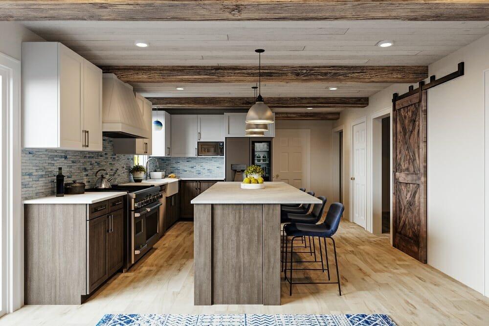 Industrial farmhouse decor in a kitchen - Wanda P
