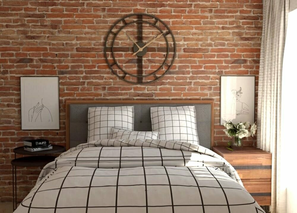 Industrial modern décor for a bedroom - Tijana Z