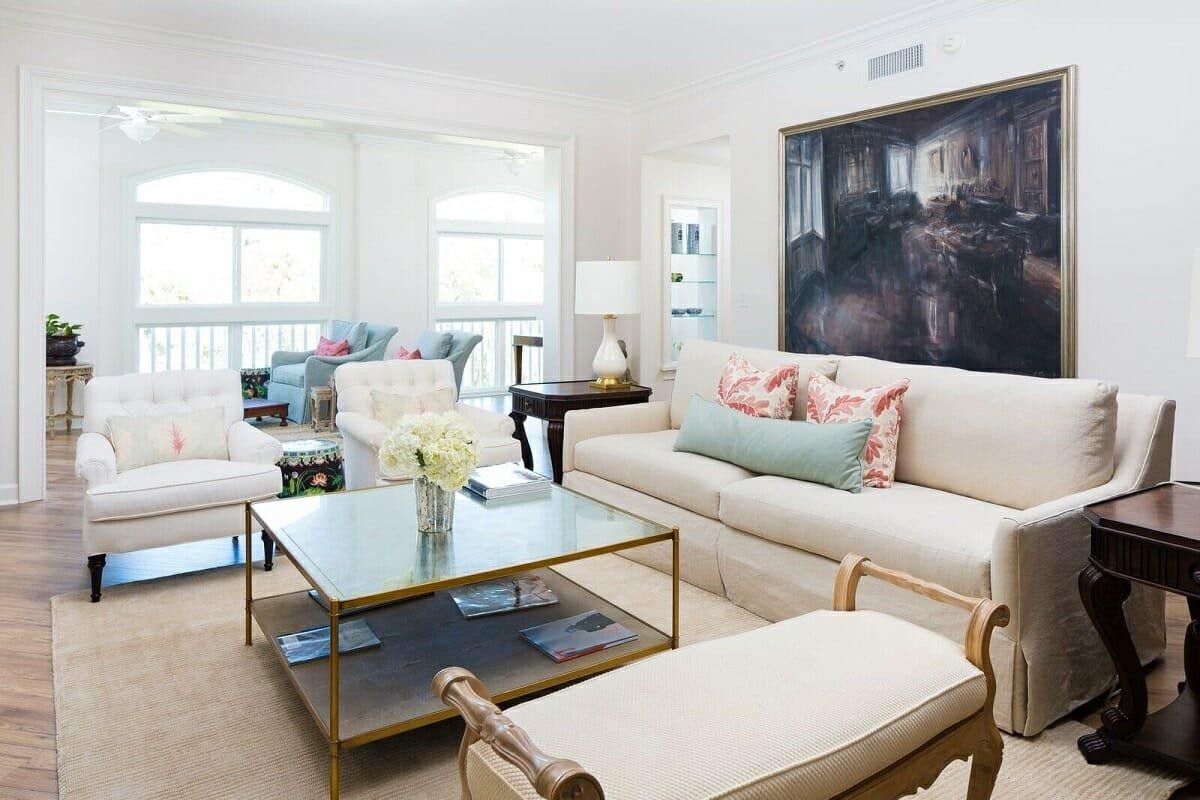 Joyful living room by online interior decorator Courtney B