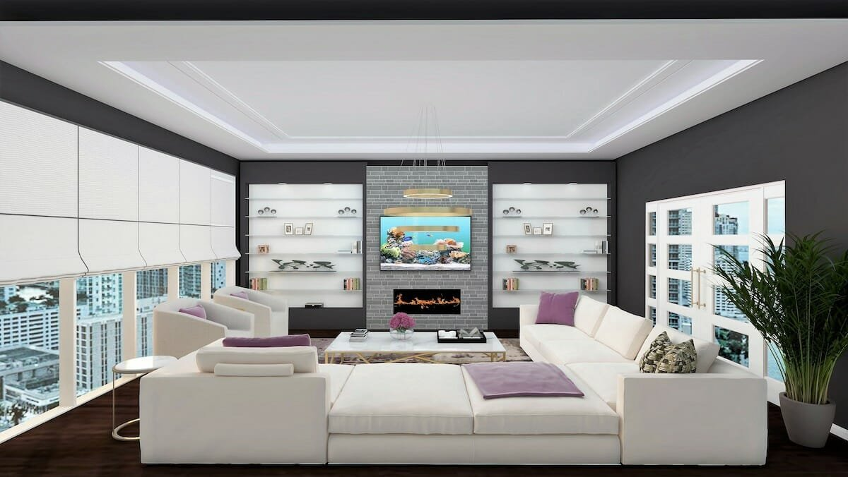 Living room design by one of the top interior decorator San Antonio, Rowanna Loveless