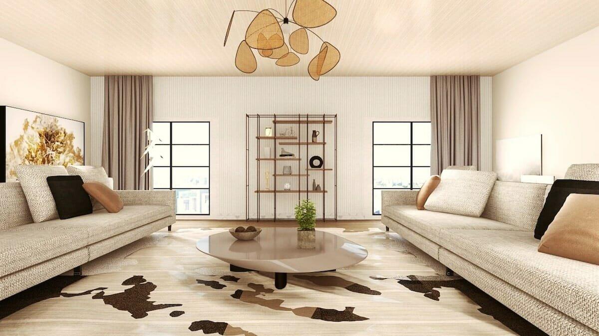 Luxe lounge area by interior decorator silicon valley mini g 2